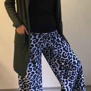Leopardbukser sort/grå - New Collection