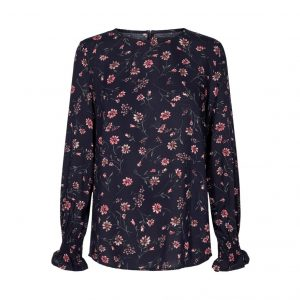Bluse med Blomstprint - Freequent